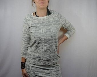 Dress winter fleece Indian pattern