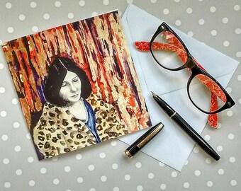 Viviene Eliot Art Print Greetings Card Poet, Greeting Card, Book lover, Literary card, Inspirational women, Women writers