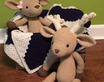 Handmade Amigurumi Buck and Doe