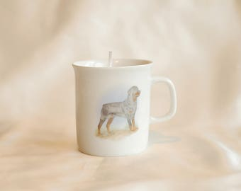 Coffe mug with soy candle