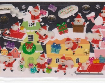 Santa Stickers - Christmas Stickers - Raised Stickers - Mind Wave - Reference F196-97F319F370F540A3585