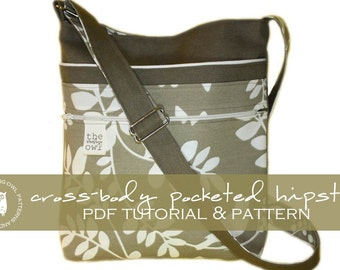 Cross-Body Pocketed Hipster - PDF Tutorial & Pattern