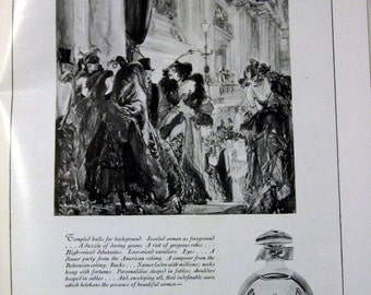 1922 Riguad's Parfum Ad Perfume Henry Raleigh Artwork At the Paris Opera Art Deco