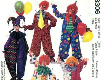 McCall's 6719 HARLEQUIN JESTER CLOWN Costumes Pattern