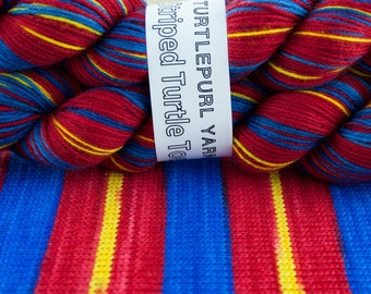 Superman - Hand Dyed Self Striping MCN Sock Yarn