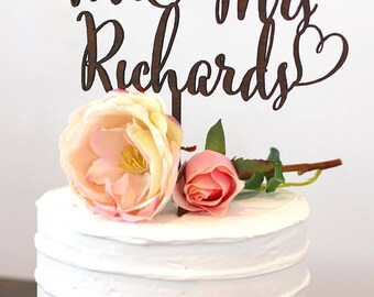 Mr and Mrs Cake Topper, Wedding Cake Topper, Personalized Cake Topper, Bride and Groom, Custom Wedding Cake Toppers, Cupcake Topper