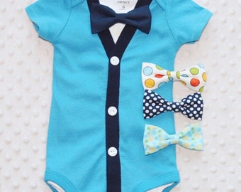 Baby Boy Cardigan Bow Tie Set, Baby Suit, Baby Boy Outfit, Baby Boy Clothes, Preppy Boy Outfit, Smash Cake Outfit