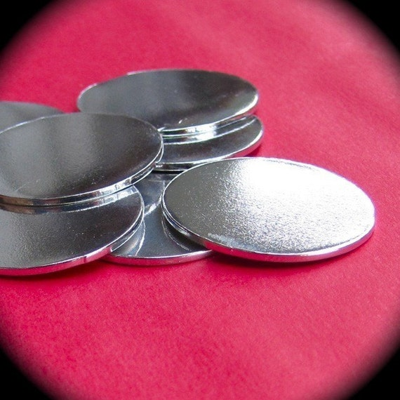 "25 Discs 1"" 14 Gauge Polished Pure Food Safe Aluminum - 25 Discs"
