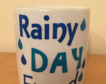 Ceramic rainy day fund money box