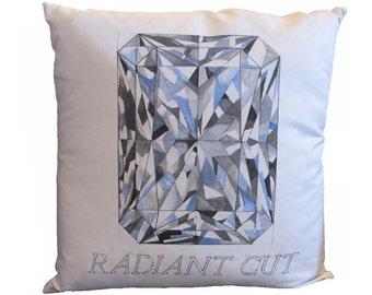 Radiant Cut Diamond Pillow