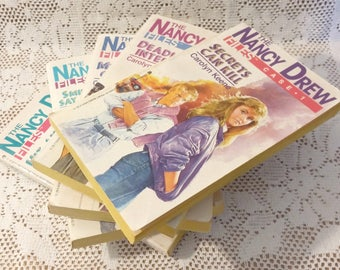 Vintage Nancy Drew Book Set By Carolyn Keene