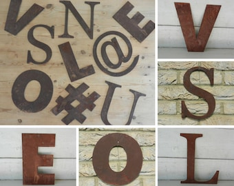 Rustic Metal Wall Letters / Custom Metal Sign / Rusty Metal Number / Rustic sign / Garden wall decor / Letters Wall Decor / Metal Wall Sign