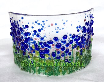 Fused Glass Arc: English Cottage Garden