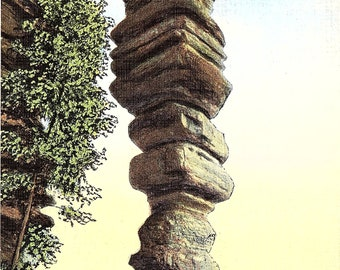 Chimney Rock, Kentucky, Daniel Boone's Cave - Postcard - Vintage Postcard - Unused (L)