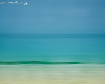 Gulf Waters, Abstract Art Print Photograph, Beach Photo, Wall Art, Landscape Photography, Ocean Photograph, Home Decor, Coastal Decor, Blue