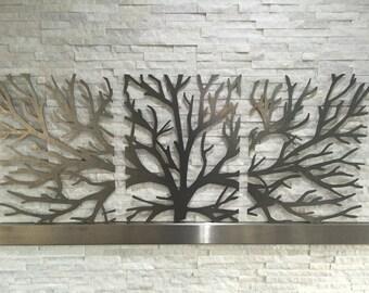 Metal Wall Art Decor Tree