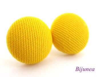 Yellow earrings - Yellow stud earrings - Yellow studs - Yellow posts - Yellow post earrings sf1006