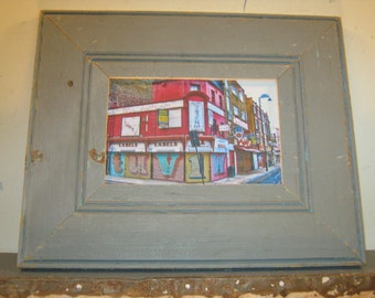 SHABBY ARCHITECTURAL Chic Salvaged Recycled Wood Photo Picture Frame 4x6 S-313