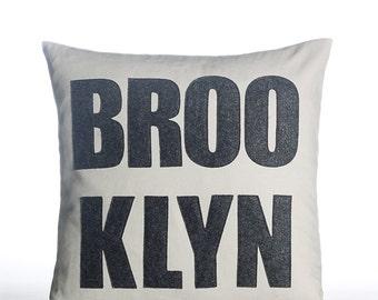 "Decorative Pillow, Throw Pillow, ""Brooklyn"" pillow, 16 inch"