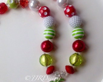 Strawberry Necklace - Strawberry Chunky Necklace-  Strawberry- Strawberry Pendant- Strawberry Rhinestone-Strawberry Shortcake Inspired