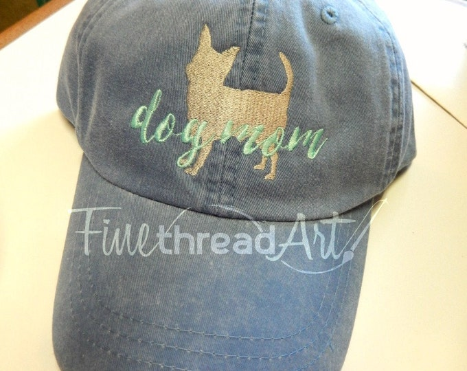 Featured listing image: LADIES Dog Mom Baseball Cap Hat Leather strap 40 Breeds Labrador Dachshund Weimaraner Schnauzer Chihuahua ShihTzu Spaniel Poodle Yorkie
