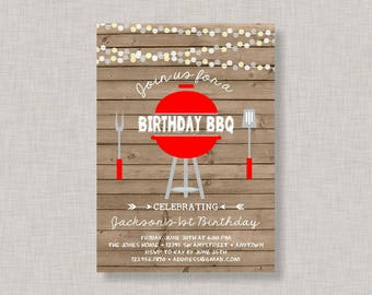 Birthday BBQ Invitation, Backyard BBQ Invitation, BBQ Invitation