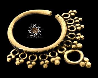 Brass Septum Ring - Septum Jewelry - Septum Piercing - 18G Septum Ring - 16G Septum Ring - Indian Septum Ring - Tribal Septum Ring (OB14)