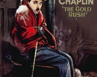 "Charlie Chaplin - ""The Gold Rush"" (24 x 36) - Framed Poster"