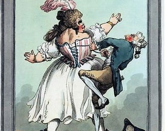 Vintage 18th Century British Satire A Little Tighter Poster A3/A2/A1 Print