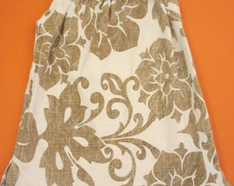 Robe style taie swirly or et d'argent