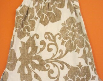 Gold and silver swirly pillowcase style dress