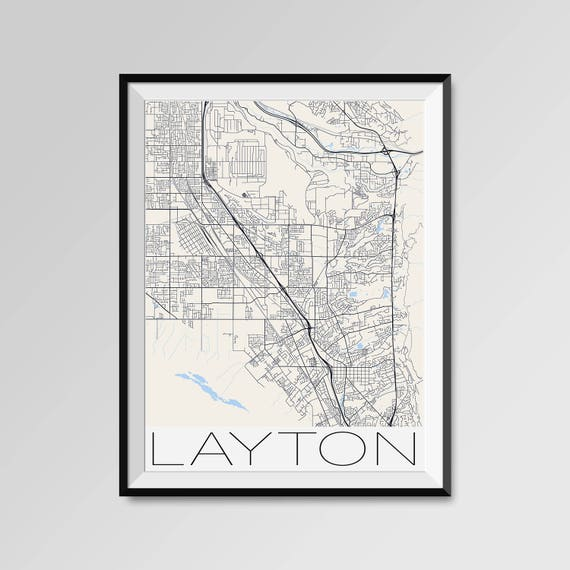 LAYTON Utah Map Layton City Map Print Layton Map Poster
