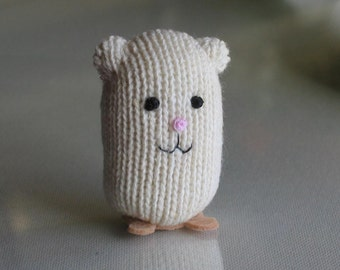 Hamster miniature plush stuffed animal  hand stitched figure