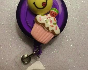 Yummy Cupcake RETRACTABLE BADGE HOLDER