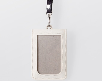 Washable Paper ID Badge Holder in Riambel White