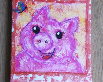 Piggy Print on canvas