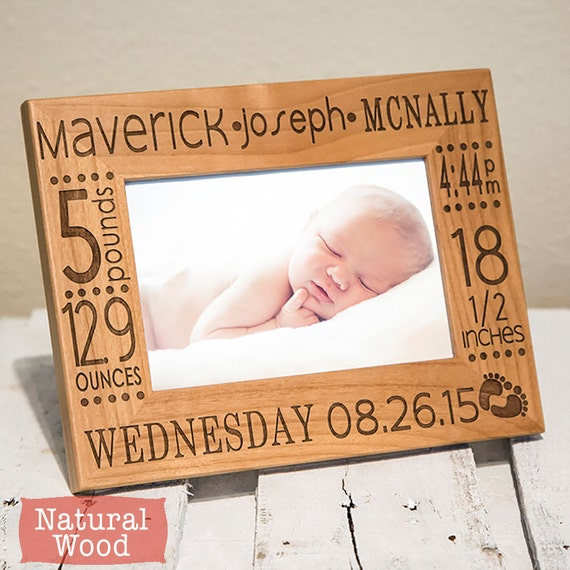 Personalized Baby Picture Frame Birth Announcement-baby gift