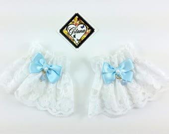 White Lace Wrist Cuff- Pastel Goth-Wrist Cuff-Fairy Kei Fashion-Bracelet-lolita Fashion Lace-Kitten Pet Play,BDSM,DDLG-Harajuku Fashion
