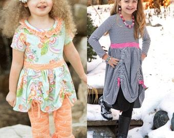 Maybi's Knit Dress and Tunic PDF Pattern Sizes 6-12m to girls 8