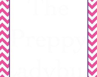 Custom Monogrammed Letterhead - Resume Paper - Sorority Recruitment
