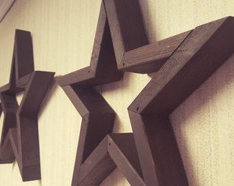 Wooden Star - Wall Star - Shelf Star - Wooden Shelf Decor - Wall Decor - Accent - Rustic - Country - American
