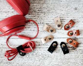 Cord Organizers, Leather Stocking Stuffers - Travel Gifts - Tech Lover - Graduate Gifts - Stocking Stuffers - Small Gifts Under 10