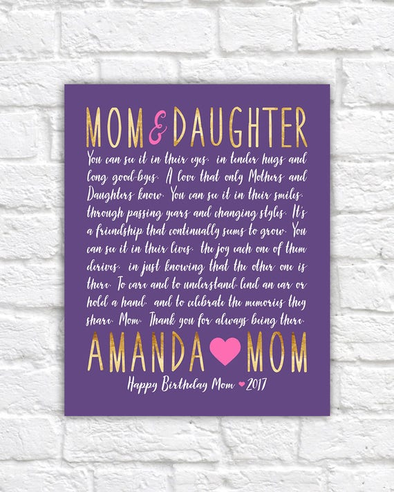 letter to mom mom and daughter gift idea mom birthday gift