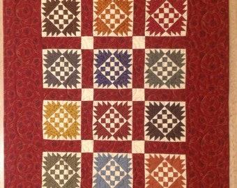"""Handmade Chequered Past. 22"""" x 28"""""""