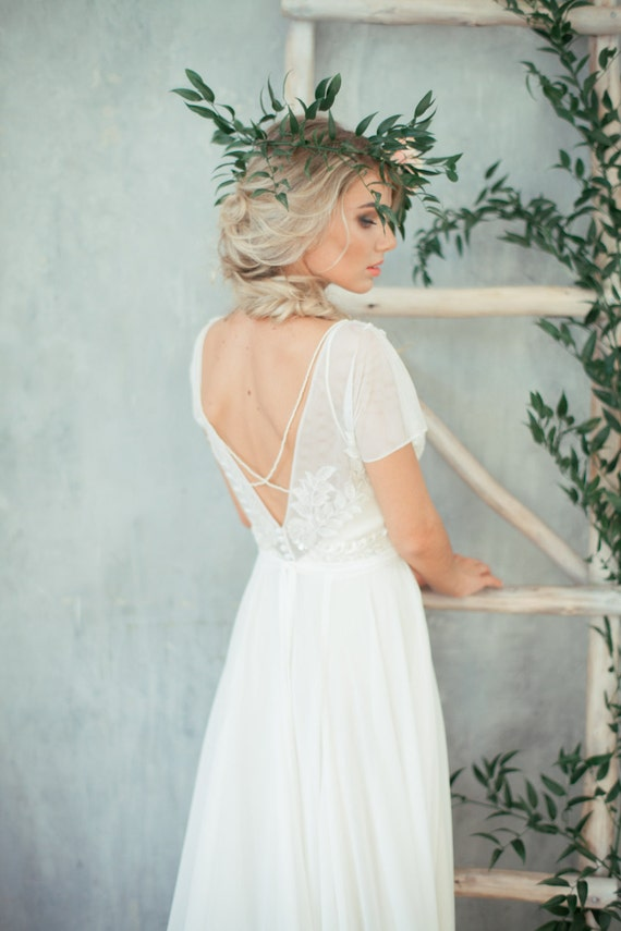 Boho wedding dress teona bohemian wedding dress junglespirit Images