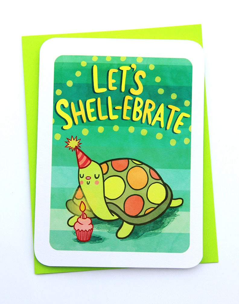 Lets shell ebrate happy birthday card funny birthday card zoom bookmarktalkfo Images