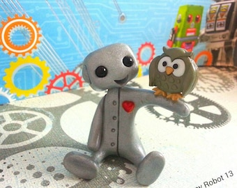 Robot and his Pet Owl