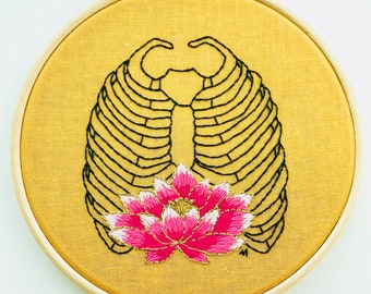 EMBROIDERY KIT The Waterlily Rib Cage