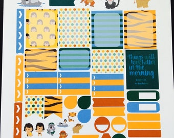 Man Cub Weekly Planner Stickers Set, for use with Erin Condren Life Planner, Happy Planner