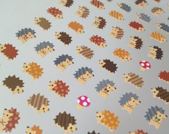 porcupine sticker mini Hedgehog sticker wild animal cute cartoon icon kawaii pet wild pig handmade sepcial gift card scrapbooking